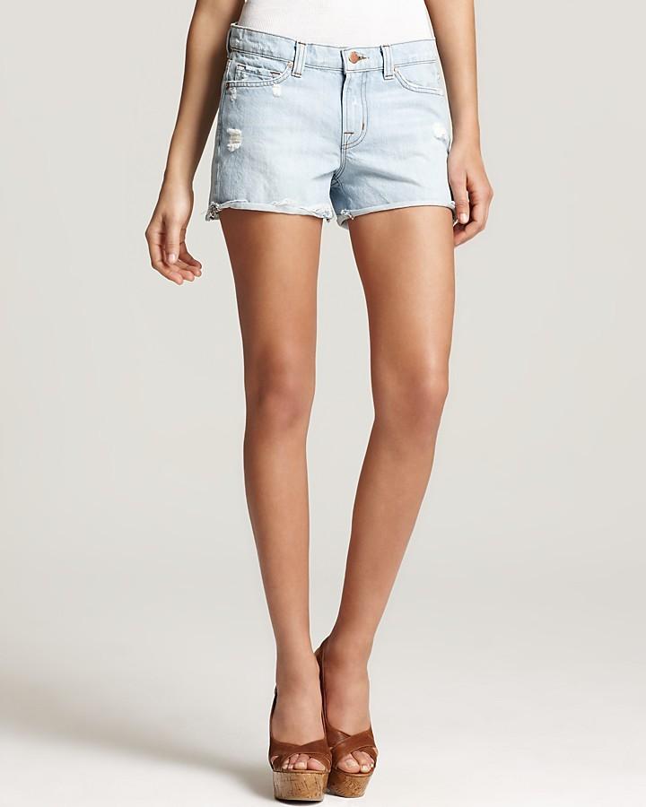 J Brand Shorts - Low Rise Cutoff Denim Shorts