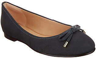Clarks Leather and Textile Ballet Flats- Grace Lily