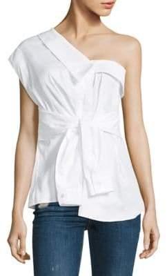 Petersyn Hadley Tie- Front Cotton Top