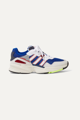 adidas Yung-96 Mesh, Faux Suede, Nubuck And Leather Sneakers - Blue