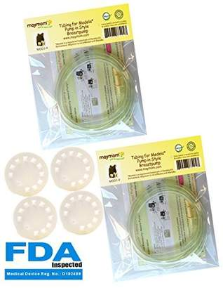 Medela Tubing for Pump in Style Advanced Breastpump Released After Jul 2006 Plus 4 Membranes in Retail Pack. Replaces Tubing , 8007156 & 87212. BPA Free. Made By Maymom (Two Packs Total 4 tubes and 4 membranes)