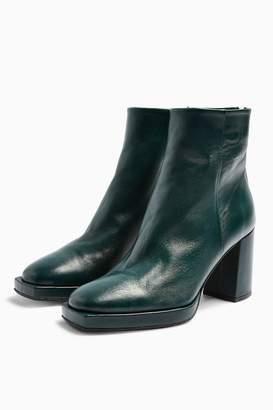 Topshop HOLLAND Teal Platform Boots