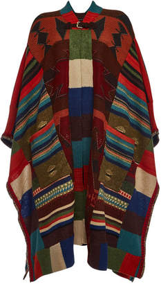 Etro Knit Poncho with Wool, Cashmere, Mohair and Silk
