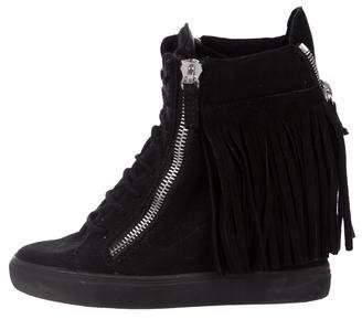 Giuseppe Zanotti Suede Fringe Sneakers