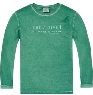 Scotch & Soda Washed Text Artwork T-Shirt