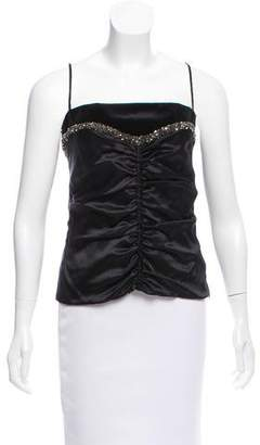 CNC Costume National Sleeveless Silk Top