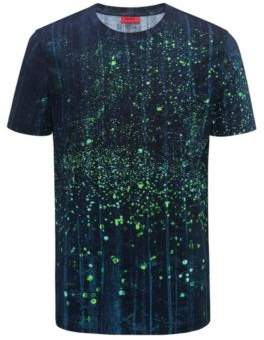HUGO Boss Relaxed-fit cotton T-shirt firefly artwork L Patterned
