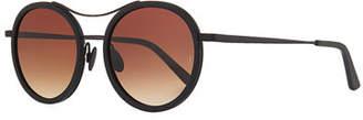 SUNDAY SOMEWHERE Roso Acetate & Metal Round Sunglasses