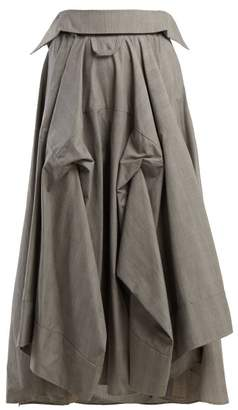 Awake Checked Cotton Culottes - Womens - Grey