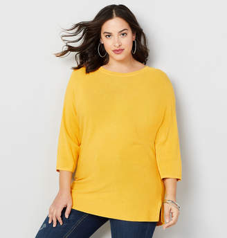 Avenue Dolman Ribbed Pullover