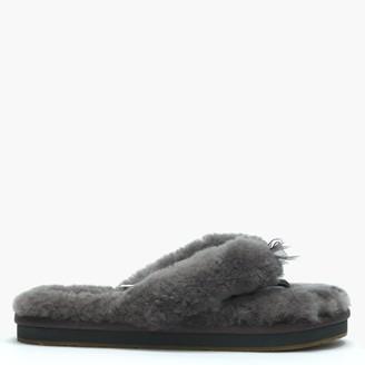 11cc54c583209 UGG Women s Fluff II Grey Flip Flop Slippers