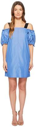 Sportmax Cina Cold Shoulder Puff Short Sleeve Dress Women's Dress
