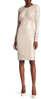Alexia Admor Long Sleeve Jewel Neck Keyhole Dress