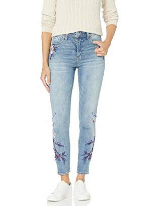 Lucky Brand Women's HIGH Rise Embroidered Bridgette Skinny Jean in