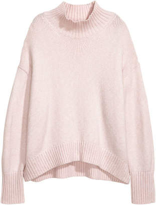 H&M Knit Turtleneck Sweater - Pink