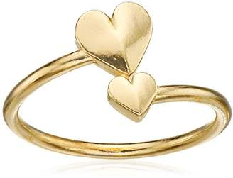 Alex and Ani Valentine's Day Collection Romance Heart Wrap Gold Plated Ring