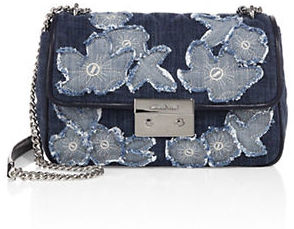 MICHAEL Michael Kors Michael Kors Sloan Large Chain Denim Shoulder Bag