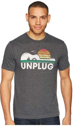 Life is Good Unplug Camp Guitar Cool Tee Men's T Shirt
