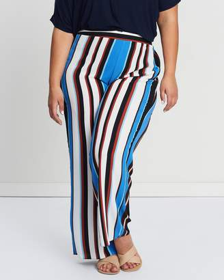 Evans Tobacco Striped Wide Leg Pants