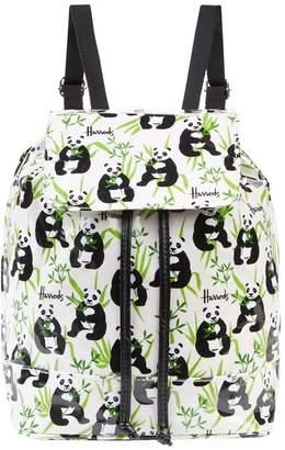 Harrods Panda Logo Drawstring Backpack