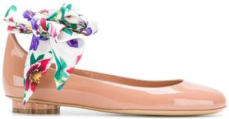 Salvatore Ferragamo Flower Heel ballerina shoes