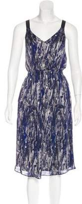 Theyskens' Theory Abstract Print Silk Dress