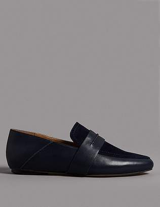 Marks and Spencer Suede High Vamp Loafers