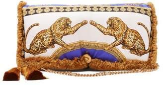 Versace Pillow Talk Signature Dea Print Bag - Womens - Gold Multi