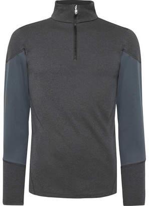 Bogner Yorick Slim-Fit Mesh-Panelled Stretch-Jersey Half-Zip Base Layer