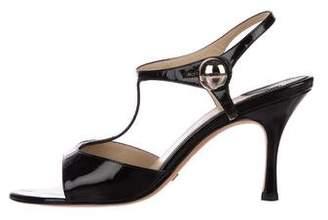 Alexandra Neel Patent T-Strap Sandals