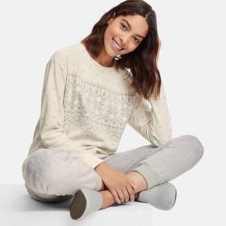 Uniqlo Women's Long-sleeve Snowflake Fleece Set