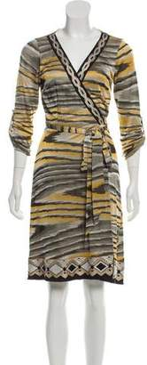 Hale Bob Patterned Wrap Dress