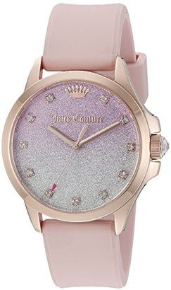 Juicy Couture Women's 1901406 Jetsetter Analog Display Japanese Quartz Pink Watch $175 thestylecure.com