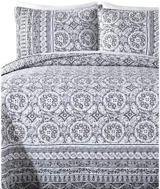 Jessica Simpson Mosaic Border 140 Thread-Count 3-Piece Quilt Set
