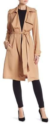 Bagatelle Notch Lapel Trench Coat