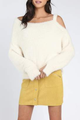 Honey Punch Furry Texture Sweater