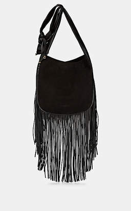 Françoise Women's Fringe Suede & Leather Hobo Bag - Black