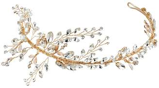 Nina Drees Marquis Leaves Tiara Silver Headband