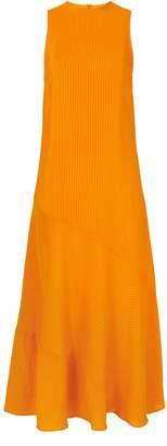 Ganni Wilkie Seersucker Turmeric Dress