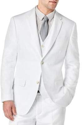 Perry Ellis Linen-Blend Jacket