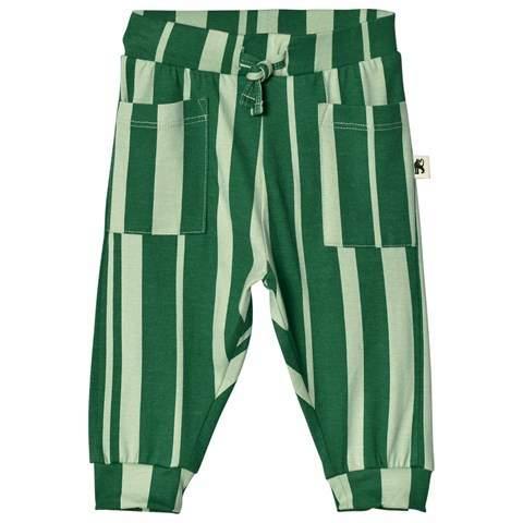 Green Odd Stripe Trousers