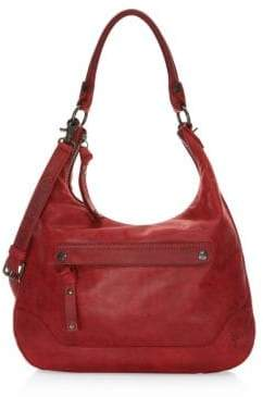 Frye Melissa Zip Leather Hobo Bag