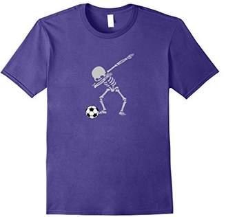 Funny Halloween Dabbing Skeleton Soccer Shirt