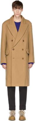 Acne Studios Tan Rover Boucle Coat