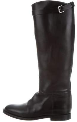 Hermes Buckle-Accented Riding Boots