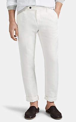 Massimo Alba Men's Linen-Cotton Pleated Trousers - Cream