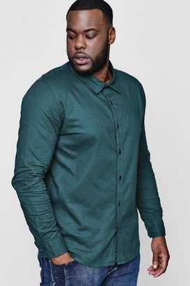 boohoo Big And Tall Long Sleeve Oxford Shirt