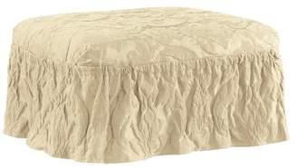 Sure Fit Matelasse Damask Ottoman Slipcover