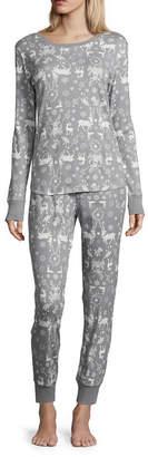 Co Womens North Pole Trading 2-pc. Pant Pajama Set