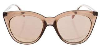 Le Specs Halfmoon Magic Mirrored Sunglasses